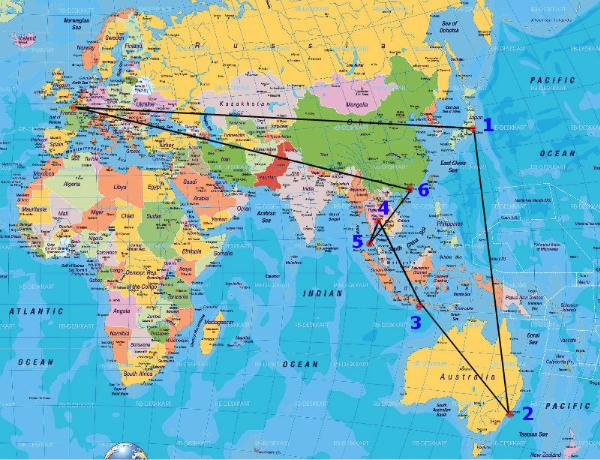 Défi n.1: Paris-Tokyo-Sydney-Bali-Bangkok-Phuket-Hong Kong-Paris pour 1560Euros!