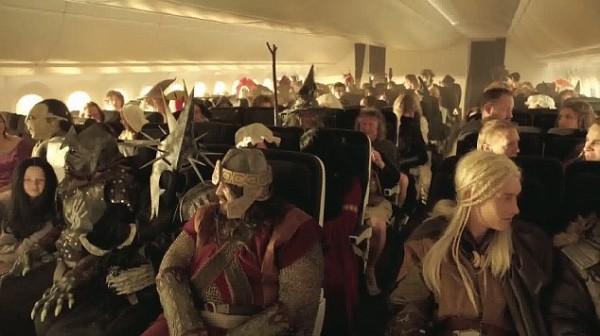 Surprise pour les passagers d'Air New Zealand