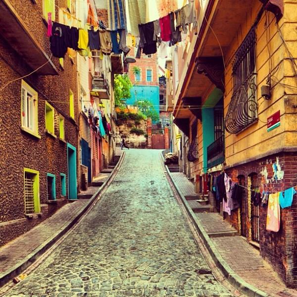Les rues colorées d'Istambul