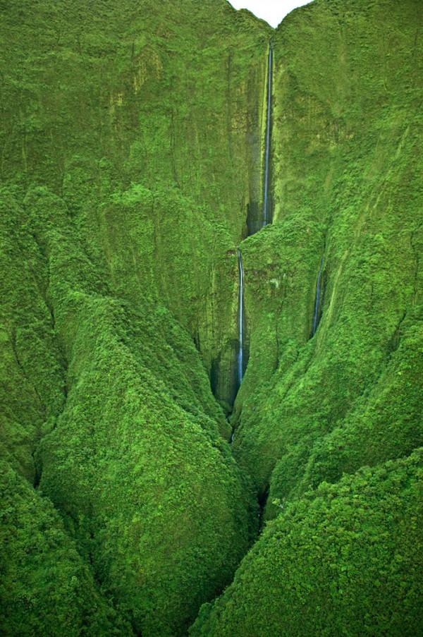 Les chutes d'Honokohau à Hawaï