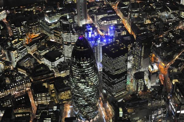 Londres - Liverpool Street vu du ciel