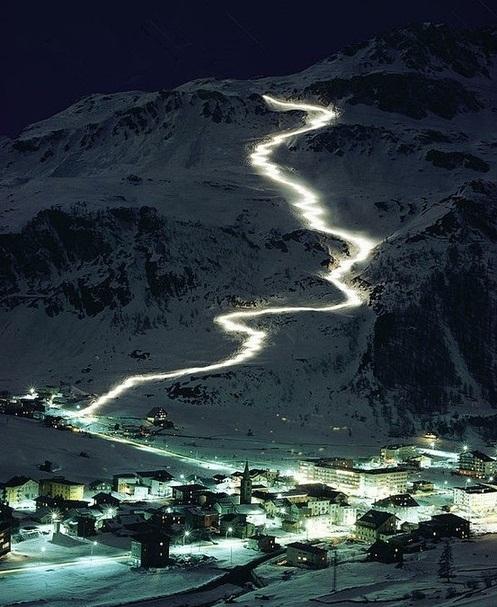 Le ski nocturne! Avouez que cela donne envie...
