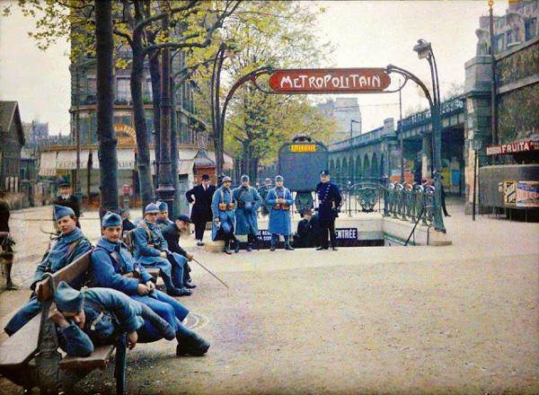 Paris - La station Auteuil en 1900 et en couleurs!