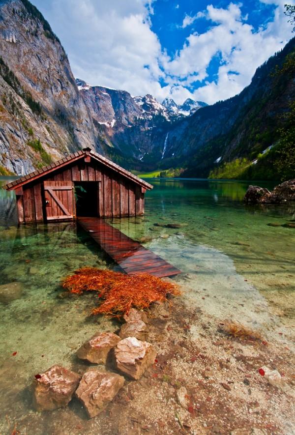 le lac d'Obersee en Allemagne