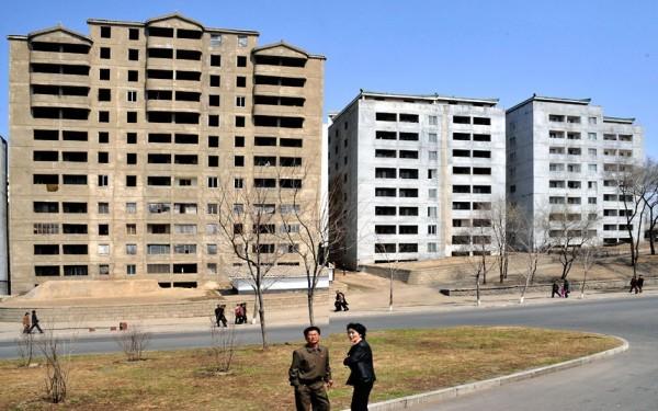 Les logement typiques de PyongYang