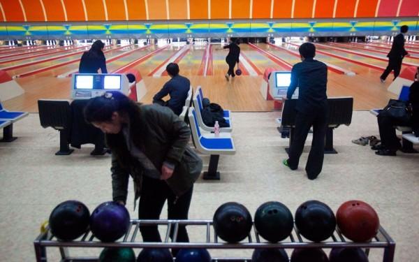 un bowling de Pyongyang