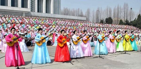 Les musiciennes lors de la cérémonie du 100eme anniversaire de la naissance de Kim-Il-Sung