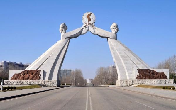 l'arche de la réunification à PyongYang