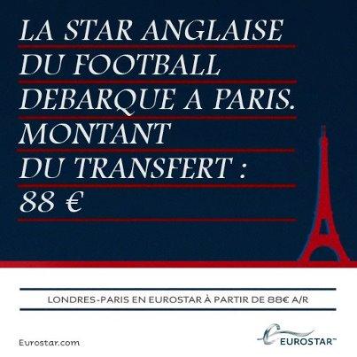 Quand Eurostar commente le transfert de David Beckham au PSG