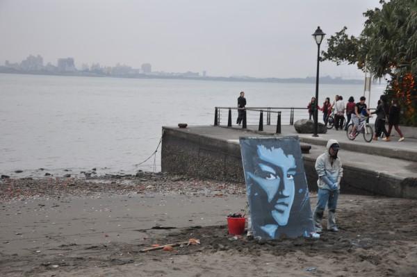Une des nombreuses performances artistiques de Danshui