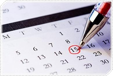 calendrier voyage