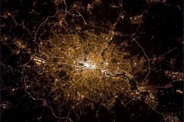 Londres vu de l'espace!