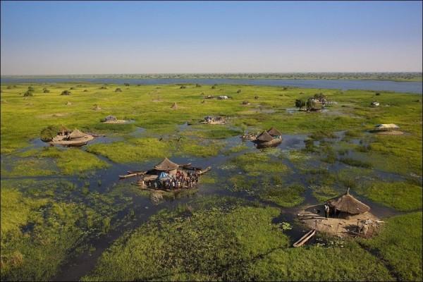 Paysage unique du Sud Soudan