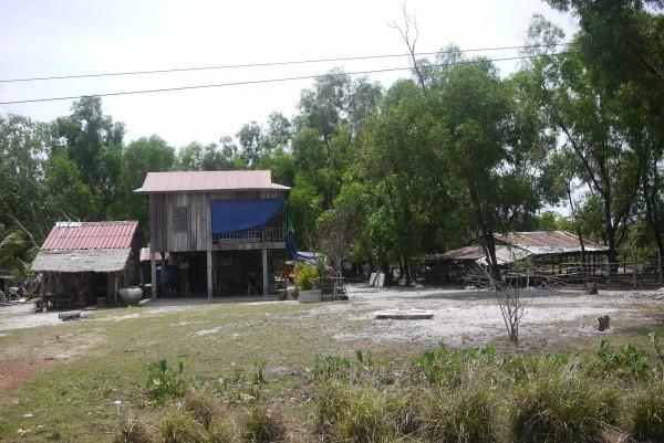 Maison typique de la campagne cambogienne