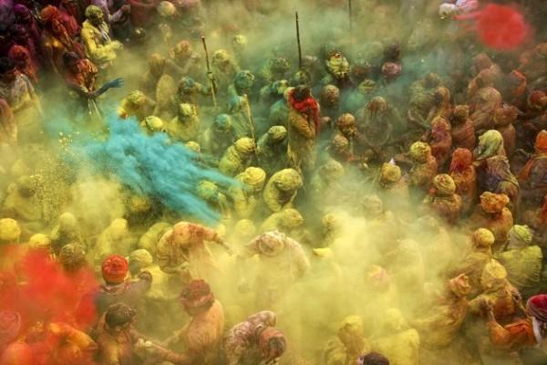 Fête du Holi en Inde