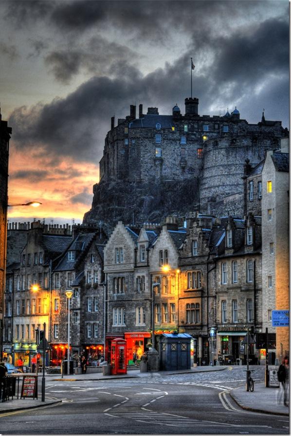 Le chateau d'Edimbourg