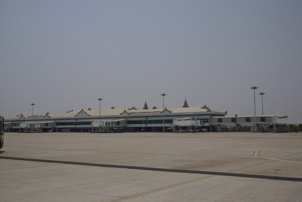 L'aéroport international de Mandalay... vide!