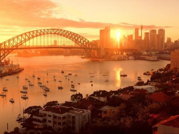 Couché de soleil sur Sydney