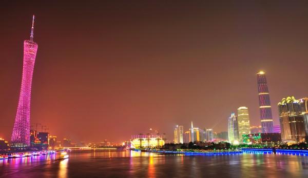 Zhujiang, quartier moderne de Canton
