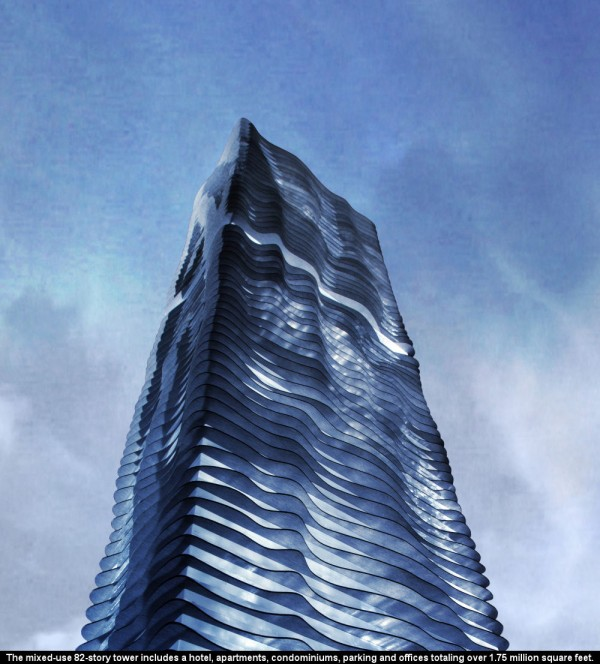 L'Aqua Tower, projet étrange, à Chicago