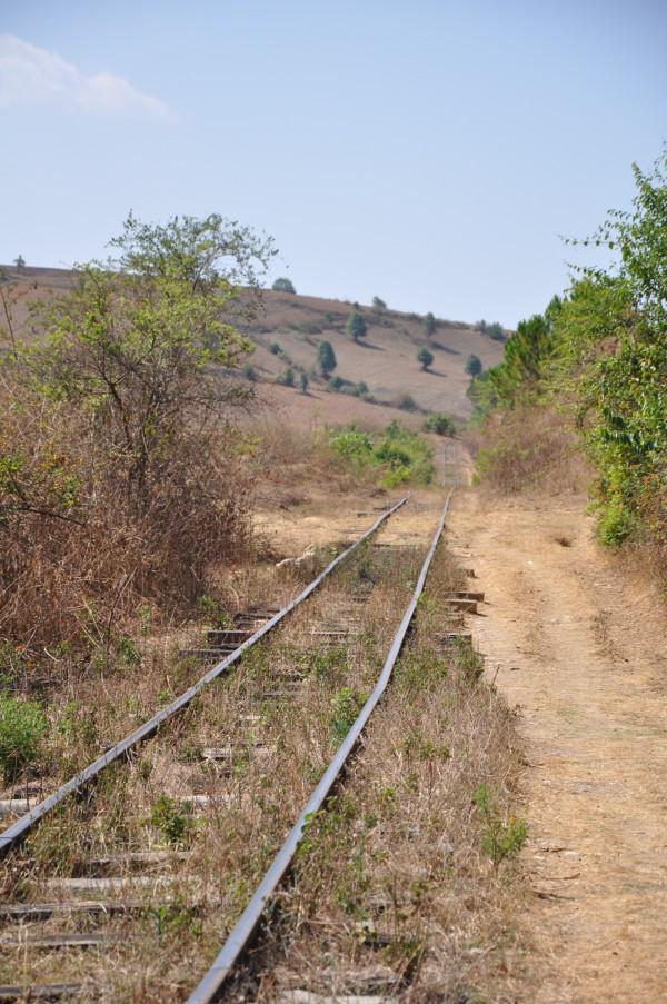 La ligne Thazi-Kalaw, et l'on comprend mieux pourquoi le train est si lent...
