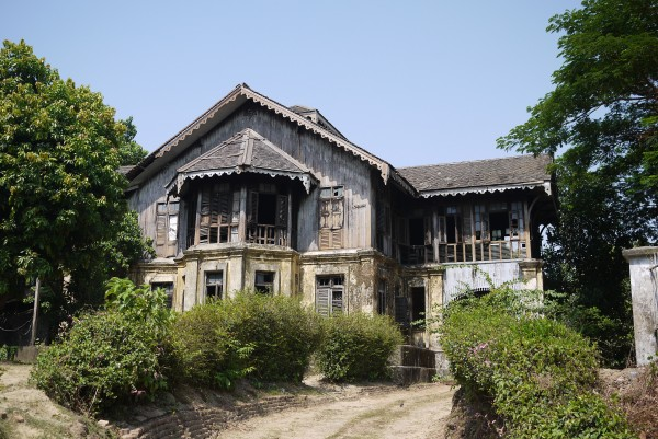 Les anciennes maisons bourgeoises de Rangoon