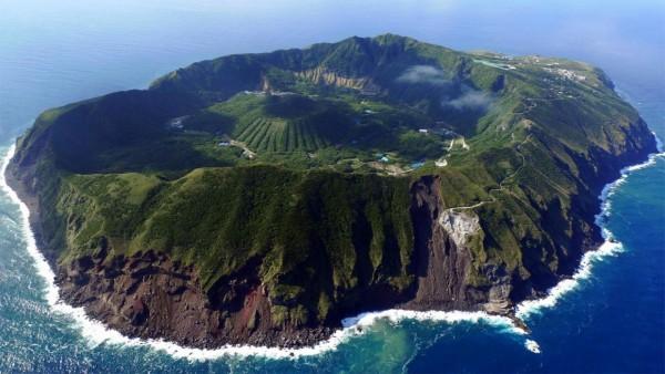 L'île d'Aogashima au Japon