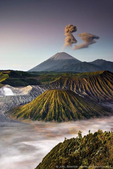 Le mont Bromo sur l'île de Java