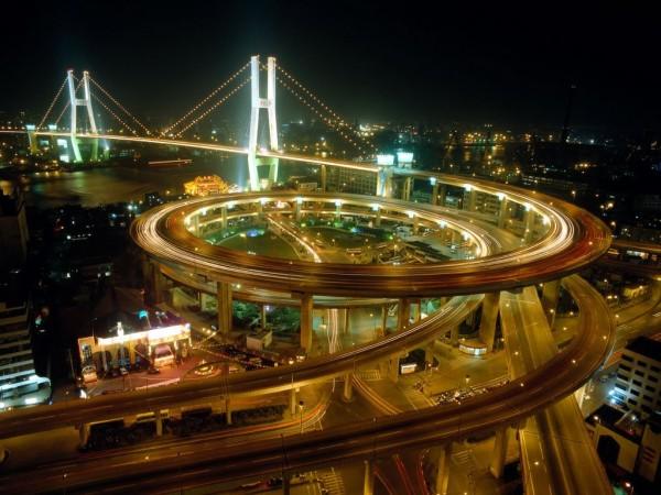Labyrinthe routier à Shanghai