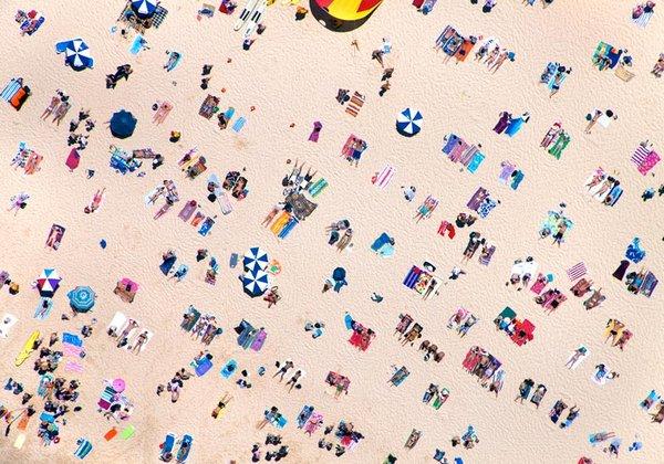 Une plage vue du ciel!