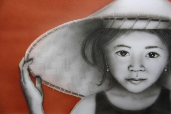 Portrait d'une fillette d'Asie