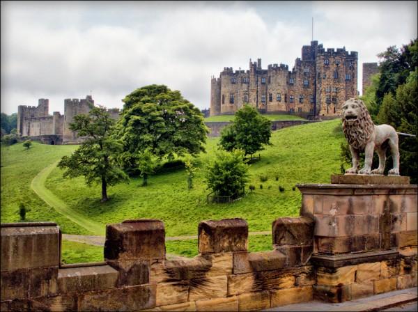 Le Château d'Alnwick en Angleterre