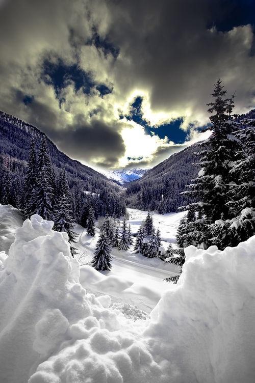Neiges au fin fond de la Finlande