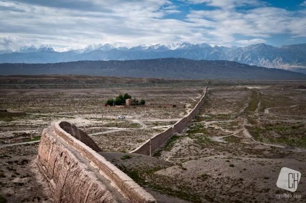 La partie occidentale de la Grande Muraille de Chine, loin des clichés que l'on a...