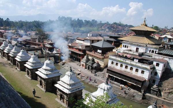 Le centre ville de Katmandou au Népal (là encore on est loin de Châtelet...)
