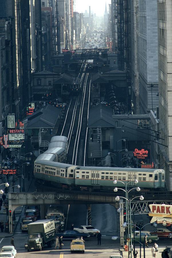 """Le métro de Chicago """"El"""" dans les 60's"""