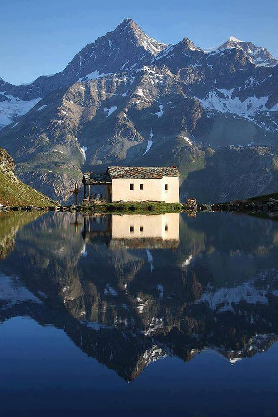 Schwarzsee (ou la mer noire?) en Suisse