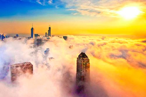 Le brouillard s'abat sur Chicago