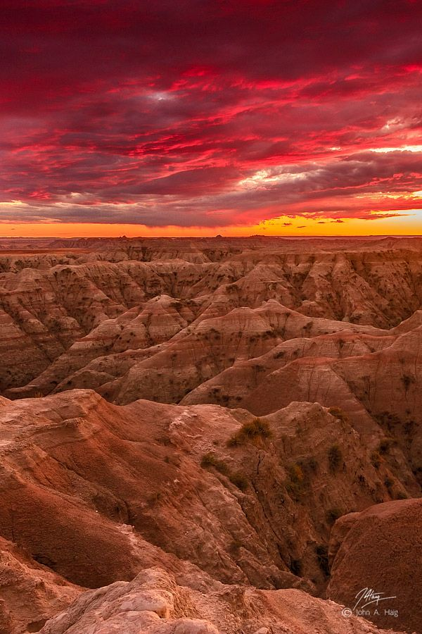 Le parc national des Badlands dans le Dakota du Sud