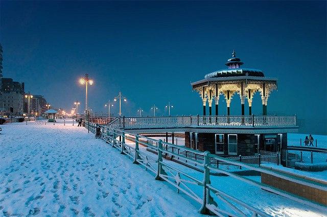 Brighton sous la neige