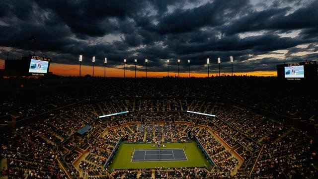 Nocturne sur le central de l'US Open