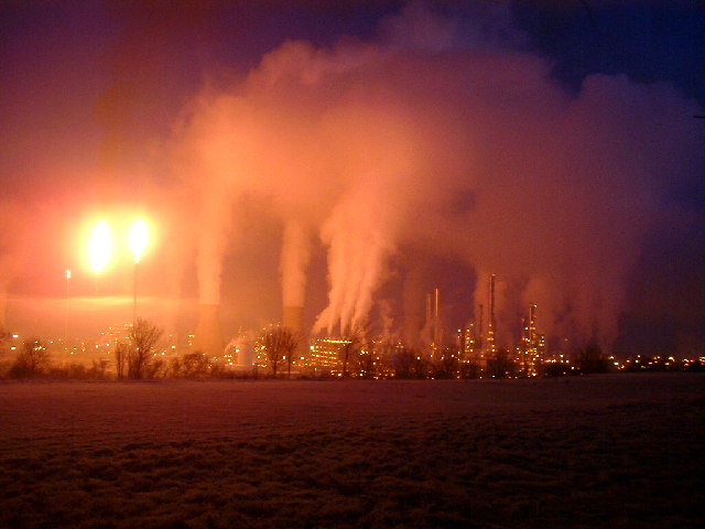 La zone industrielle de Grangemouth au Royaume-Uni