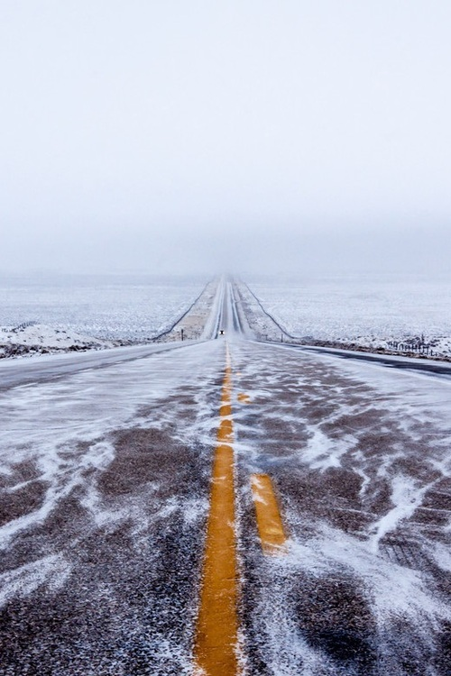 "La ""black Ice highway"" dans le Wyoming"