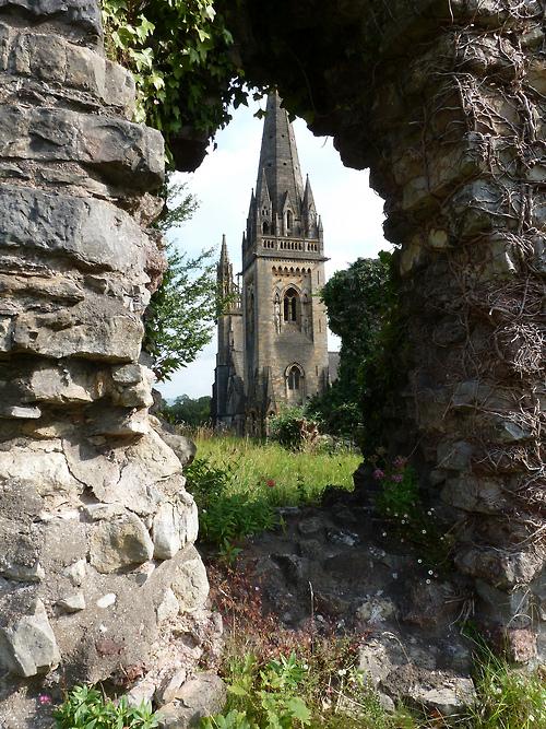 Château médiéval au Pays de Galles