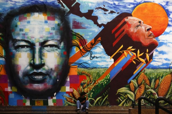 Hugo Chavez version Street Art au Venezuela