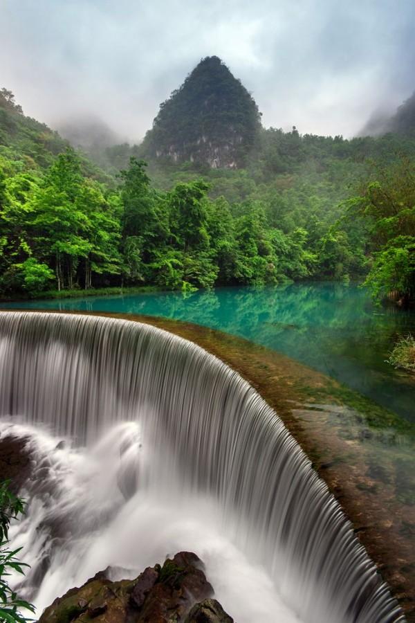 Les chutes de Libo dans la province de Guizhou en Chine
