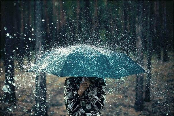 Image arrêtée sur la pluie qui tombe...