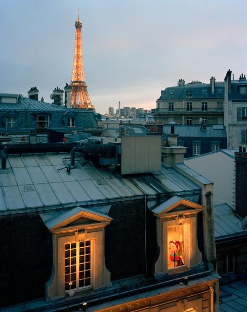La tour Eiffel depuis les toits de Paris