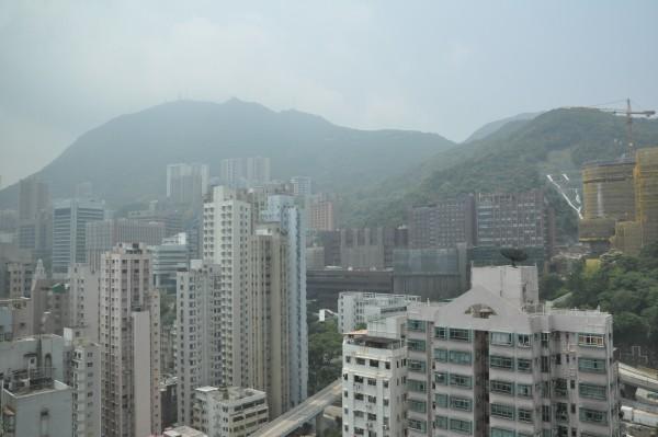 La vue sur la montagne depuis ma chambre...