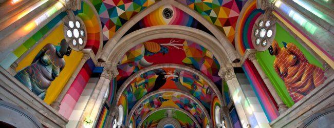 En Espagne, une église centenaire transformée en skatepark et redécorée façon streetart